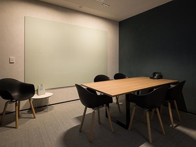 Autex Symphony acoustic wall covering in office setting