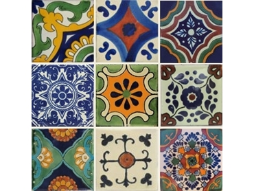 Each tile is handmade and hand painted