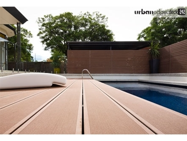 Wood Grain and Groove Decking from Ultra Design Composites l