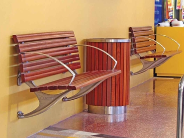 Timber and Alu Slat Seating by D O Smith & Sons
