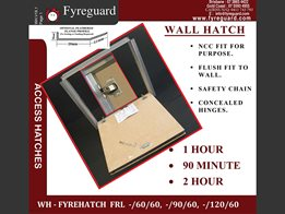 Concealed hinge - Wall Hatch: 1 Hour, 90 minute, 2 hour