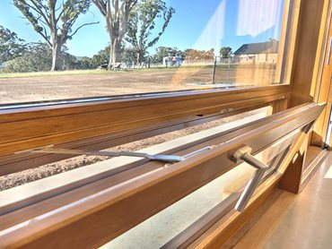 Detailed product image of Paarhammer window frame in residential home