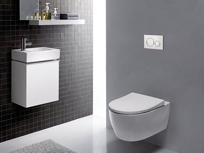 Geberit concealed cisterns and designer flush buttons Sigma cistern and Button
