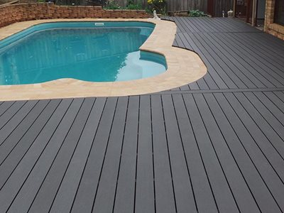 Futurewood CleverDeck Solid Composite Timber Poolside
