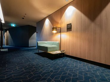 GH Commercial printed custom carpet designs on two-metre wide sheets for various areas of the chic Melbourne hotel