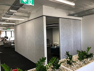 Breakout Zone Booth Operable Acoustic Walls