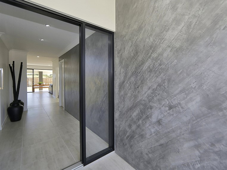 A polished concrete look with depth and texture