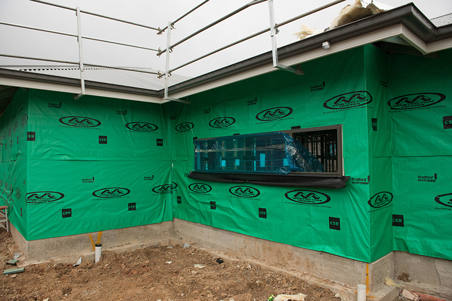 Builder branded wall wrap