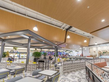 Bonnyrigg Shopping Centre: Acoustic comfort will encourage people to stay longer.
