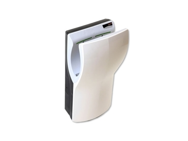 Stylish hand dryers are available in both white and satin chrome finishes