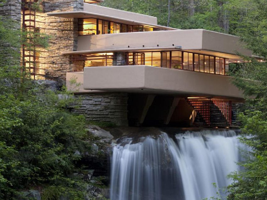 "Frank Lloyd Wright said that ""form and function are one, while his mentor, Louis Sullivan, believed form should follow function ‒ that a building should take on the shape of the purpose it plans to serve. Image: Fallingwater"