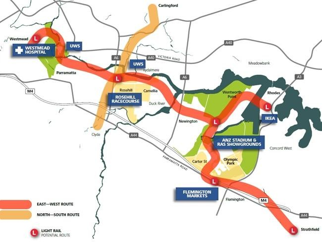 The Proposed Light Rail Link From Westmead To Parramatta Above And An Artist Impression Of In Situ
