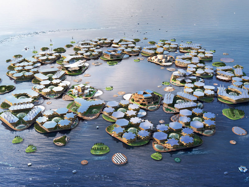 Sustainable City Design Architects Propose A Floating