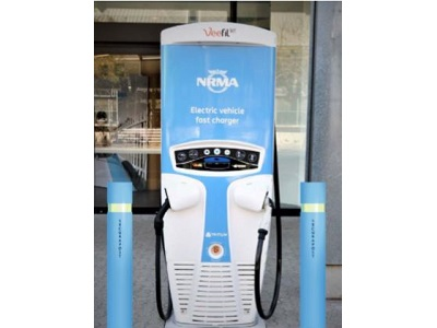 LEDA's Aegis bollards at an NRMA charging station