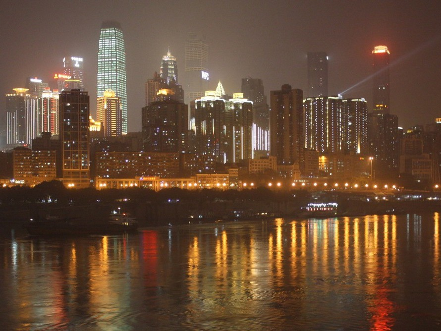 Night-time lighting – seen here in Chongqing, China – is one of many aspects of city living that can make us more stressed. Photography by Jason Byrne