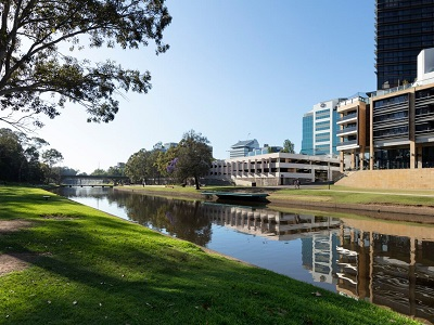 View of the site from the north bank of the Parramatta River (MRC/Dianna Snape)