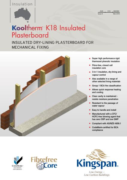 Kooltherm K18 Insulated Plasterboard brochure