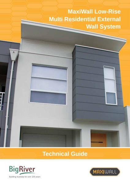 Big River Group Maxiwall Low-Rise Residential Technical Guide - External