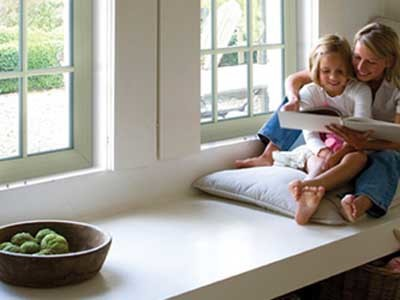 Deceuninck's PVC doors and windows shut out outside noise, ensuring peace and quiet within the home
