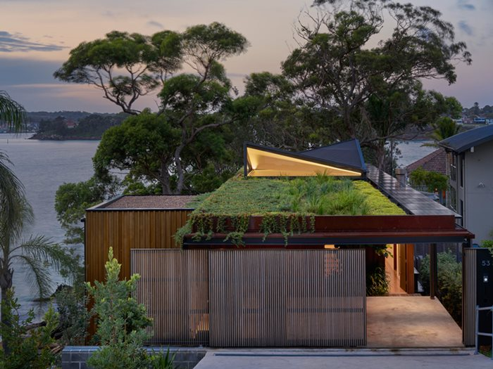 coastal home green roof