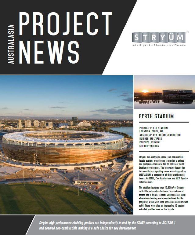 Perth Stadium Lights Youtube: Project News: Stryum Used On Perth Stadium
