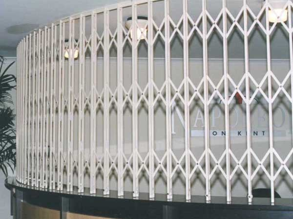 ATDC's security door in a curved trellis configuration