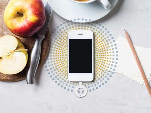 The Corian Charging Surface powers up smart devices wirelessly