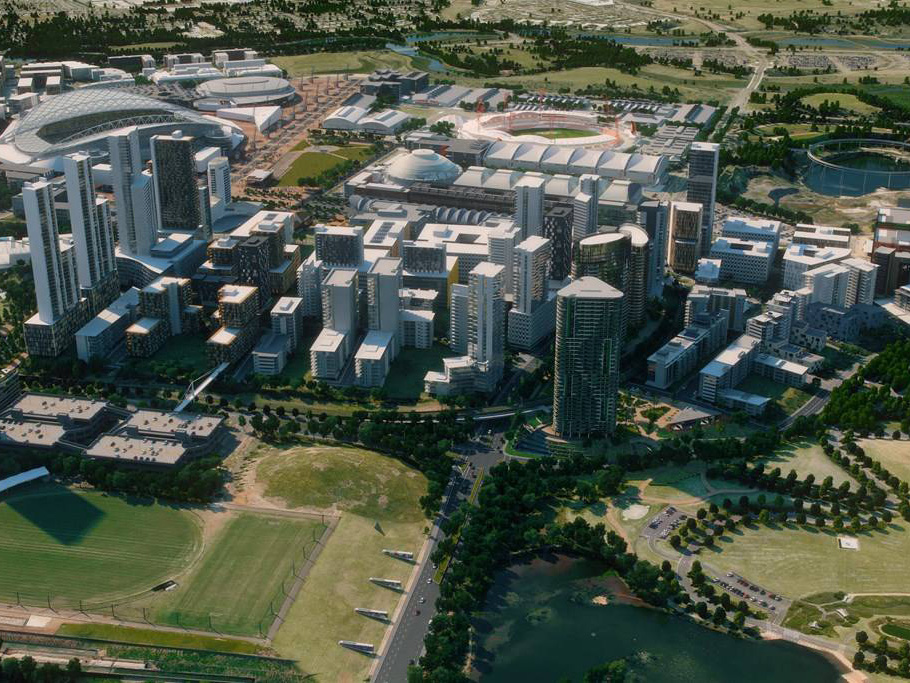 Image: Sydney Olympic Park Master Plan 2030 - image taken from Master Plan 2030 video.