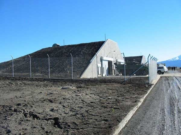 One of the Spantech Explosives Storehouses at the Waiouru Military Camp
