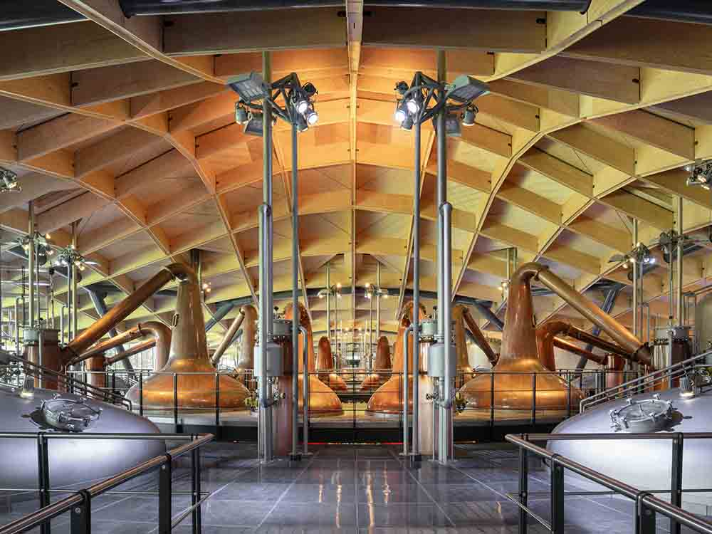 Swiss Alpine-themed distillery brings sustainable Scotch whisky to the world