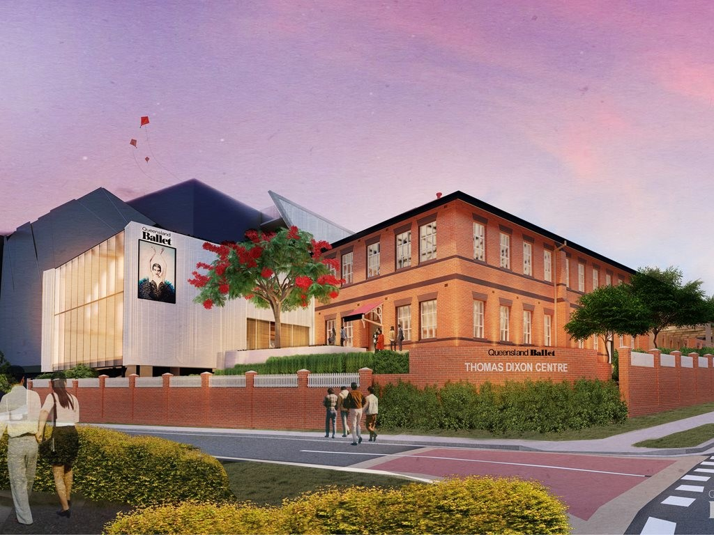 The redevelopment of the Thomas Dixon Centre into a state-of-the-art building will enable Queensland Ballet to accommodate a larger ensemble of dancers, expand dancer training programs and enhance community initiatives. Image: Conrad Gargett