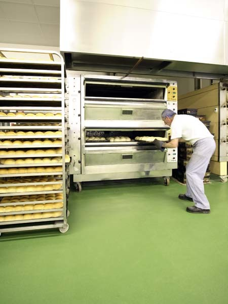 Food production facility floor