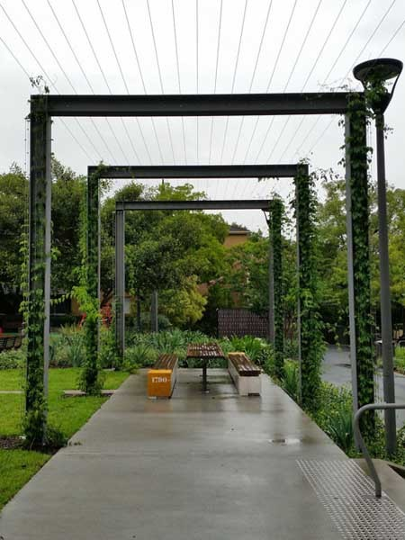 Tensile Fabricates Steel Structure For New Arbour At