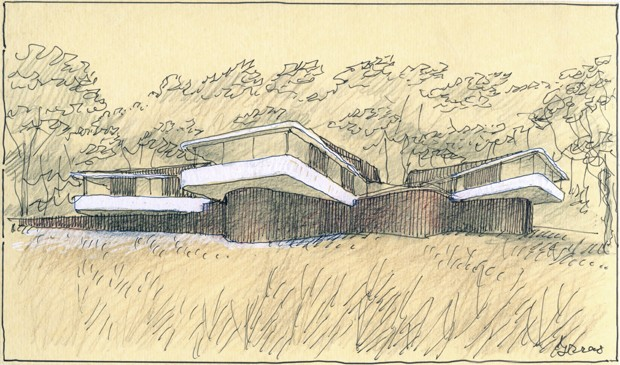 30 years of architectural sketches by luigi rosselli for Paper for architectural drawings