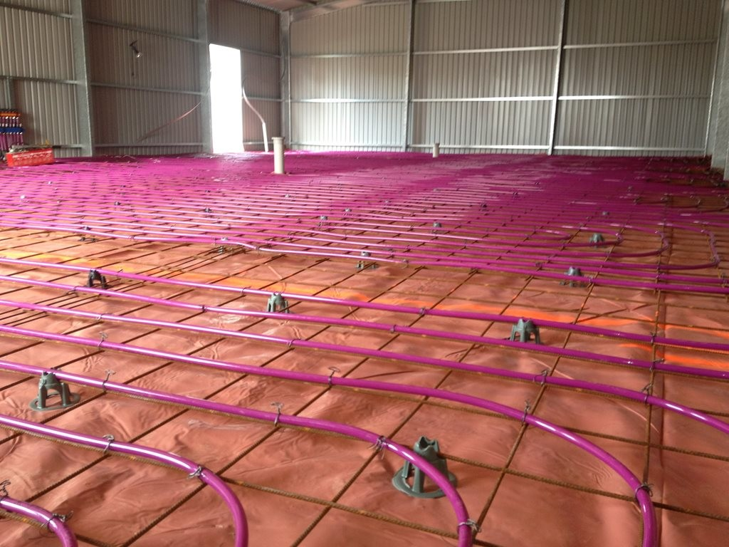 The Intelli Particle technology could change the way we heat a building's flooring. Image: Heat 2O