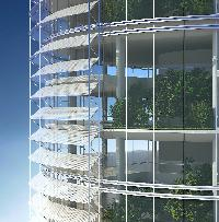 Solar Shading Device To Reduce High Rise Emissions