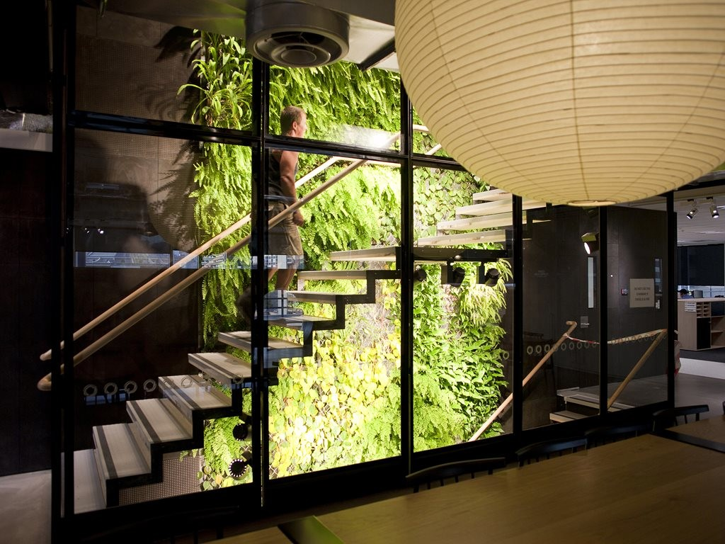 The Origin Head Office in Melbourne boasts the tallest green wall in the country, spanning 22 floors