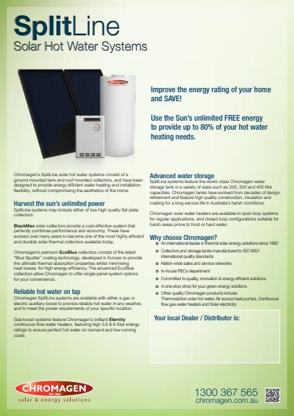 Spiptline Solar Hot Water Systems