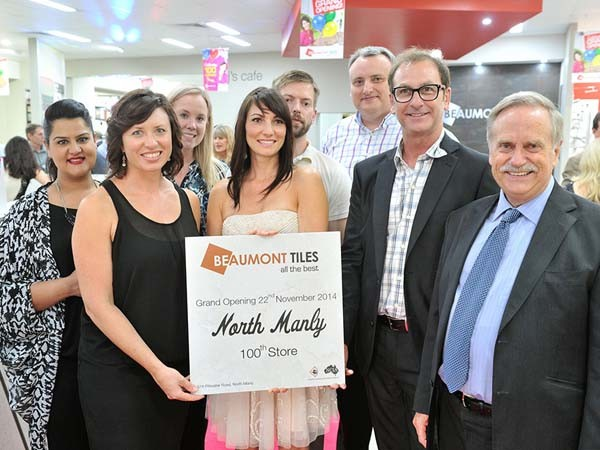 Launch of Beaumont Tiles' 100th store