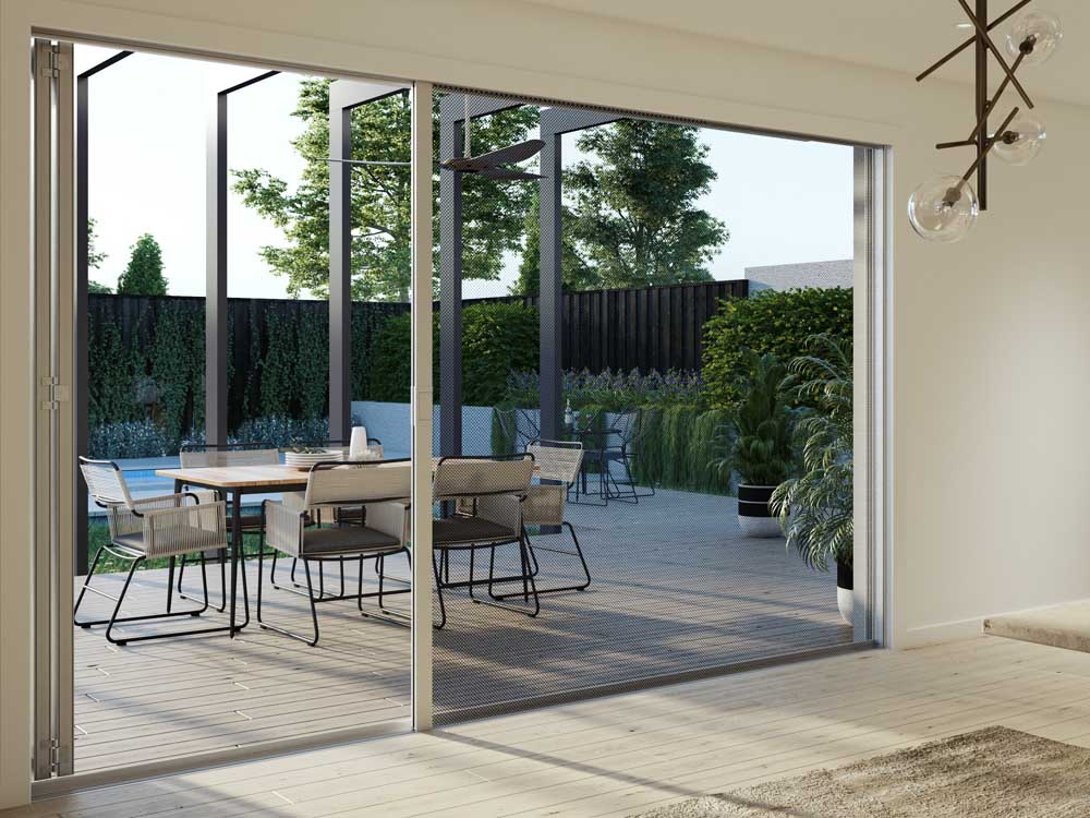 Install bi-fold doors or sliding glass doors to open up the space