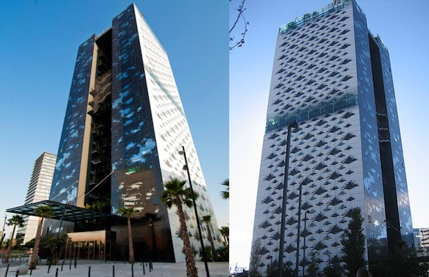 Jean Nouvel Embellishes Barcelona Hotel Fa 231 Ade With Leaf