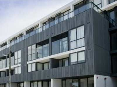 Axiom's AxiLume slatted louvre system was selected for the Precinct Apartments project