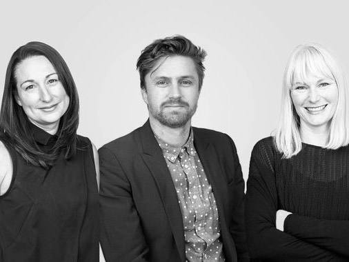 Kellie Payne (left), Cian Davis(centre) and Rachael McCarthy (right) are the new Bates Smart directors. Image: Supplied