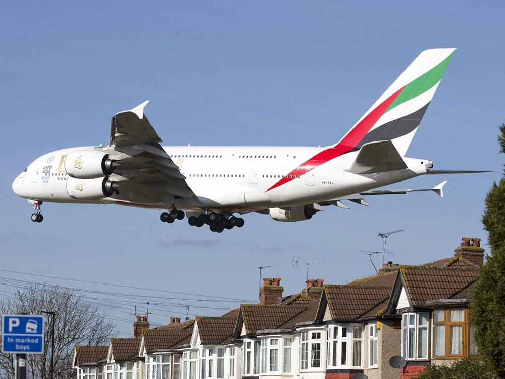 Noise pollution from passing aircraft can impact quality of life