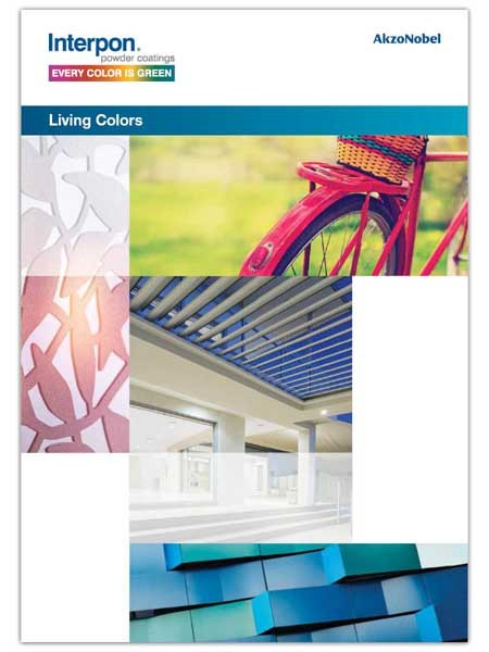 Interpon's new colour card - Living Colors