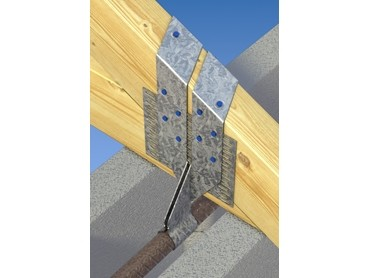 Mitek Blockfast Strap Holds Down Roof Truss To Concrete Masonry Walls Architecture Design