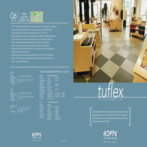 Tuflex Recycled Rubber Tiles