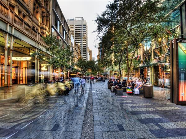 Sydney's Pitt Street Mall. Image: The York Apartments