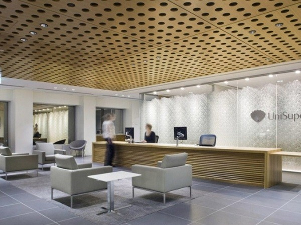 Perforated plasterboard panels with acoustic properties