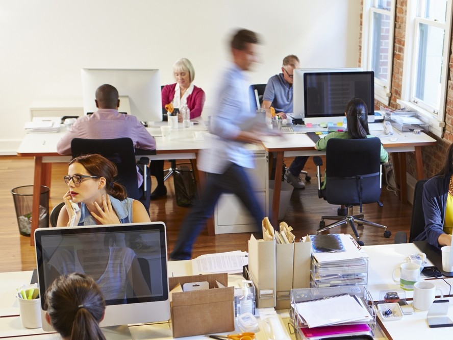 Open plan offices may seem like a good idea but research shows they have a negative effect on employees. www.shutterstock.com